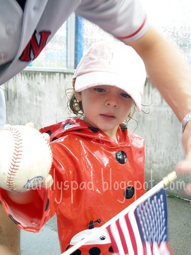 Her first baseball