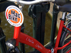 charlie chaplin's bike (instantcatchers) Tags: amsterdam bike chaplin