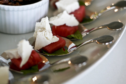 watermelon, ricotta salata & mint salad