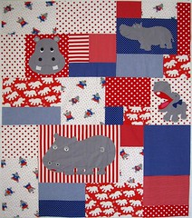 hippos quilt top all pieced