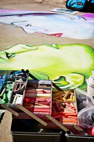 A Sidewalk Artist's Tools