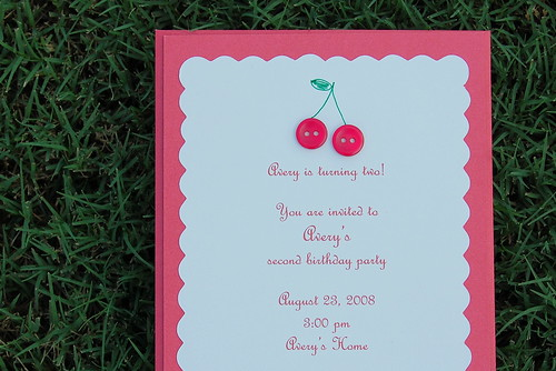 Cherries invite