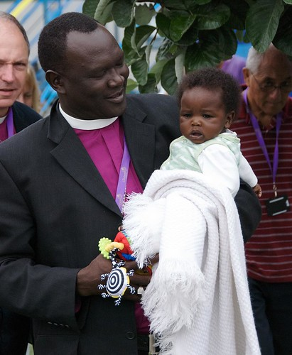 A bishop with one of the younger attendees. ACNS/Gunn