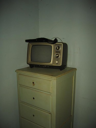 Dresser and old tube TV