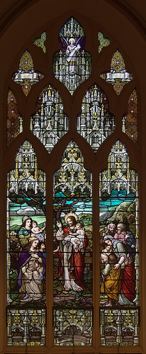 Visitation-Saint Ann Shrine, in Saint Louis, Missouri, USA - stained glass window 1