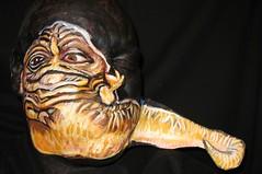 #109. Jabba The Hut (hawhawjames) Tags: fiction selfportrait art face star facepainting george starwars paint body space alien science bodypaint lucas hut jabba sciencefiction blob slug wars bodypainting 365 worm facepaint villian jabbathehut 365days
