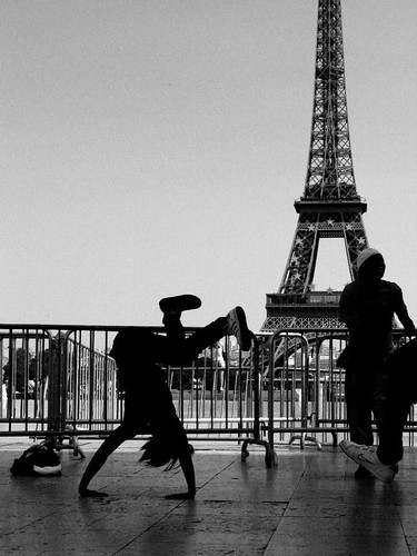 Eiffel Tower Street Dancer, Paris, France '08