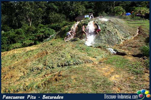 tourism indonesia, curug pitu baturaden