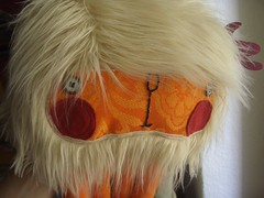 Julius Kalamarlus with hairdo (super ninon) Tags: toy soft handmade plush softie fabric ninon madeinberlin lesmonstris
