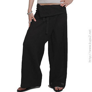 black pants thai gauze