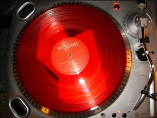 Weezer colored vinyl