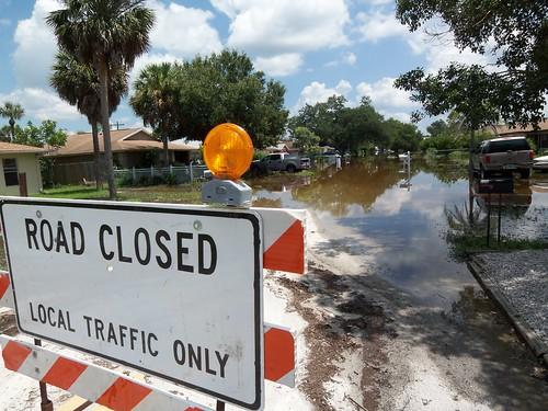 Road closed Bonita Springs