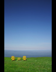 For you and me (Ameed El-Ghoul) Tags: blue sea sky favorite seascape canada nova grass yellow landscape chair best scotia bej abigfave flickrbest theperfectphotographer goldenheartaward grouptripod