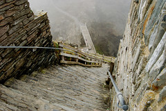 Tintagel Castle 2 (Sandra O' Callaghan) Tags: sea cliff cornwall steps legend kingarthur tintagelcastle articulateimage sandraocallaghancom