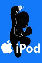 iPhone Wallpaper: Super Mario Silhouette iPod Ad (Rodey Seijkens) Tags: wallpaper silhouette ipod touch ad super mario iphone