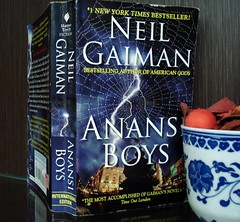 26 Aug 08 Anansi Boys by Neil Gaiman (black_coffee_blue_jeans) Tags: fiction boys reading book reader review neil books bookshelf hobby read shelf fantasy cover novel covers bookcover hobbies bookshelves shelves bookcovers reviews gaiman neilgaiman novels readinglist anansi bookreview anansiboys bookreviews