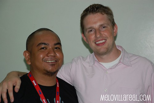 Melo Villareal with Matt Mullenweg at WordCamp Philippines 2008