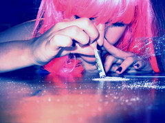 (lezcapades) Tags: pink selfportrait girl female coke sp wig drugs pulpfiction addiction cocaine 365days brogananneramm