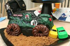 Monster Truck Cake Gravedigger (my2pickles) Tags: birthday party monster cake truck gravedigger jam monstertruck gravediggercake