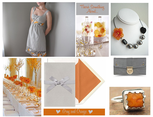 Grey and Orange Inspiration Board
