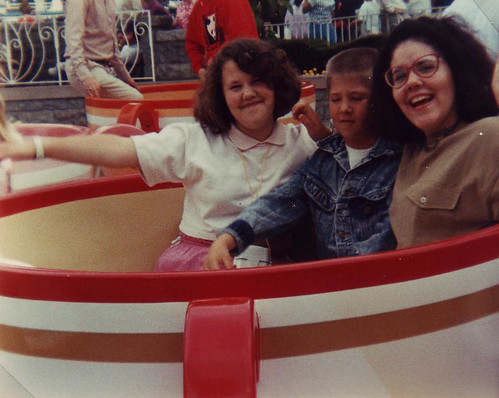 Stacey, Travis & Laura on the Teacups from Flickr