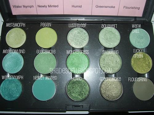 My Mac Green Eyeshadow Swatches The Shades Of U