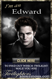 I'm a Edward! I found out through TwilightersAnonymous.com. Which Twilight Male Are You? Take the quiz and find out!