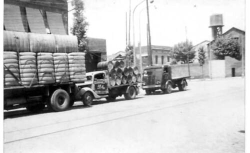 Filera de camions de TRANSPORTS HOMS de Barcelona