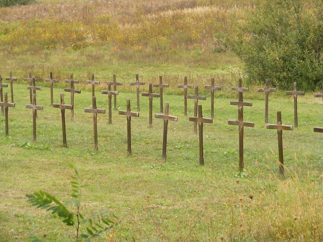 Petrinja Mass Grave from recent war at Serb Orthodox Church
