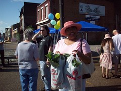 Johnnie with her veggies (Old North St. Louis) Tags: city farmers market north