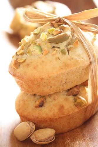 Banana & Pistachio Mini cakes