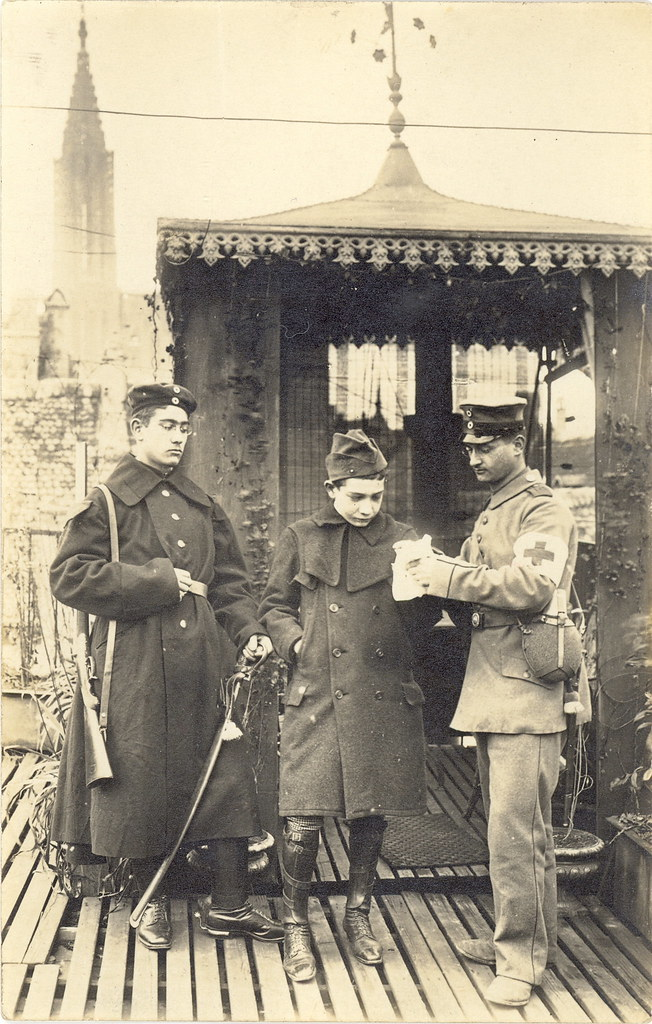 WWI German Medic and Armed German Sentry