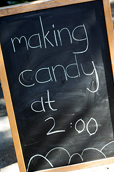 making candy
