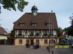 2007 Germany June Rathaus Grtzingen (Hans J E) Tags: travel family vacation germany trips baden badenwrttemberg wrttemberg badenwuerttemberg grtzingen wuerttemberg groet groetzingen bundeslandbadenwrttemberg rathausgroetzingen badischesmalerdorf badischesmalerdorfgrtzingen germanyscenery