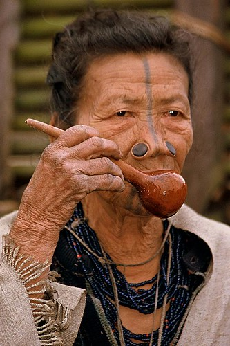 India - Arunachal Pradesh - Apatani woman