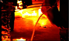 the foot of the sacrifice (gospelportals) Tags: college fire