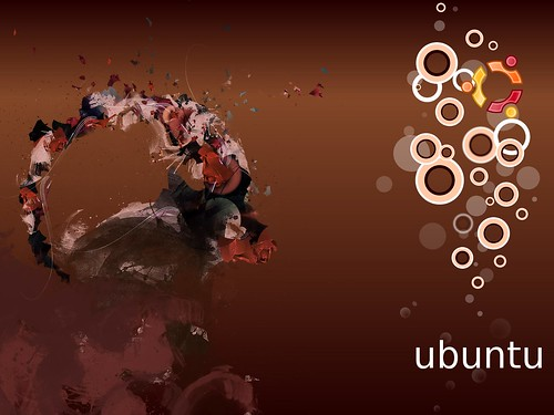 Ubuntu 8.10 Intrepid Ibex Wallpapers - 2bUbuntu Human bubbles (brown)