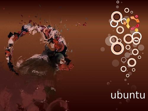 Ubuntu 8.10 Intrepid Ibex Wallpapers - 2bUbuntu Human bubbles (brown)