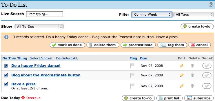 Procrastinate Button