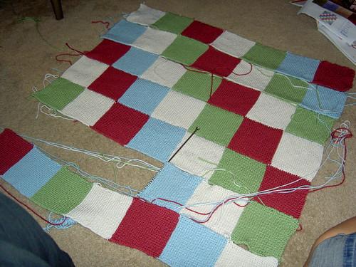 blanket in progress