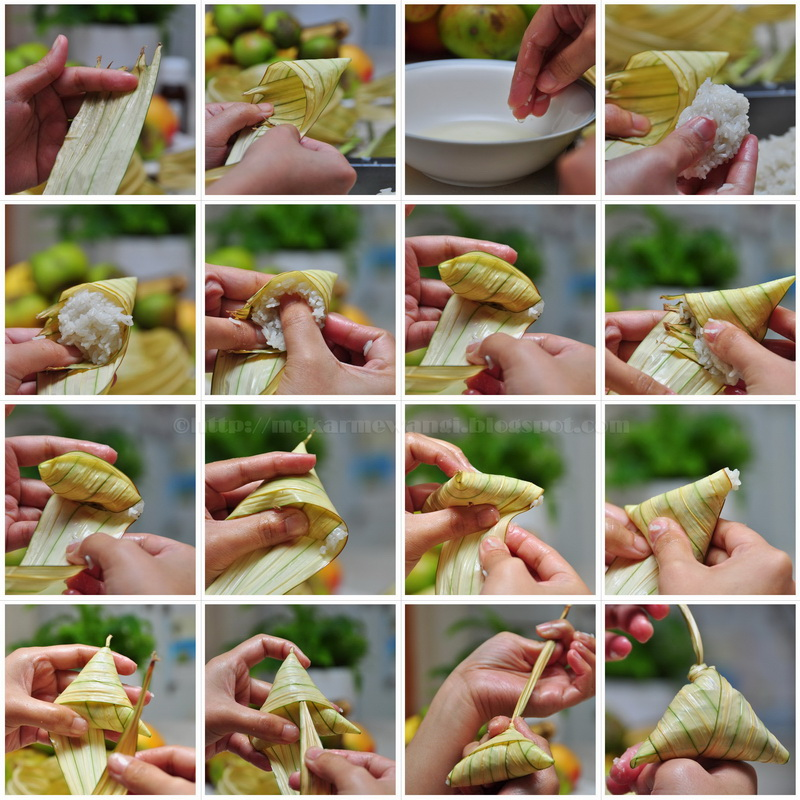 making of ketupat palas