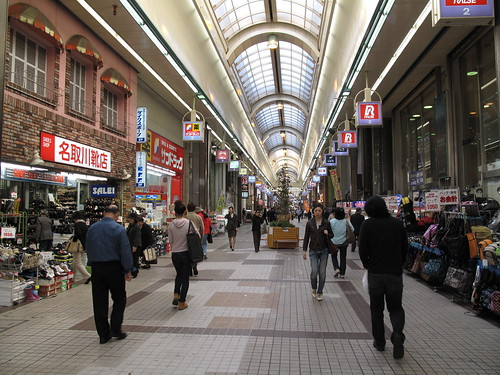 Shopping gallery in Sapporo