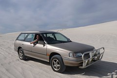 Posing (eysteina) Tags: car sand dunes australia 4wd subaru lancelin