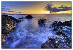 Seaside sunset (aevarg) Tags: iceland bravo hafnarfjrur naturesfinest blueribbonwinner photomatix digitalblending supershot 14mmf28d var mywinners impressedbeauty infinestyle theunforgettablepictures nikond700 goldstaraward multimegashot varg aevarg vargumundsson 5exphdrdri afnikkor14mmf28 absolutegoldenmasterpiece
