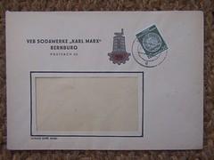 VEB Sodawerke KARL MARX Bernburg (sludgegulper) Tags: ddr industrie gdr veb briefmarken umschlag postgeschichte