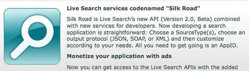Live Search API Silk Worm