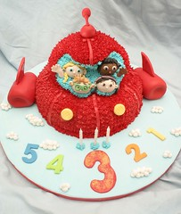 Little Einsteins Cake for Zoe (Grace Stevens) Tags: birthday red cake zoe fun decorating rocket fondant buttercream eggfree littleeinsteins gracescakescapetown