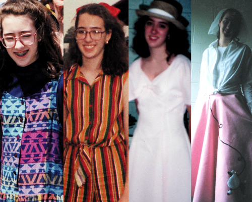 outfits my mom sewed for me throughout the years