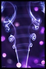 "PURPLE Dazzler - My first ""Smoke Art"" attempt... (Kuzeytac) Tags: light color colour reflection rainbow purple bokeh smoke lavender twinkle sparkle dazzle mor leyla dazzling lsi yansıma ışık dazzler renk duman lavanta canoneos400d canoneosdigitalrebelxti pırıltı kuzeytac windmillsspirals atqueartificia copyrightedallrightsreserved kamaşmak"