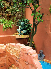 PM018649 (FotoManiacNYC) Tags: blue sculpture brick art water pool architecture stairs garden nude hotel design hand oldsanjuan puertorico body handmade antique interior rustic steps patio made swimmingpool interiordesign boutiquehotel thegalleryinn